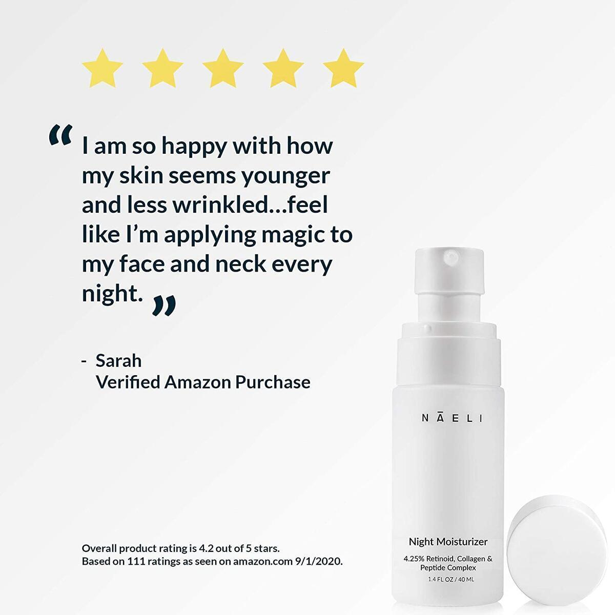 Retinol Cream For Face - 4.25% Retinol Night Moisturizer with Collagen & Peptides - Anti Aging Complex For Wrinkles, Fine Lines & Skin Tone. Boosts Natural Collagen Production - Skincare For Women & Men, 1.4 oz.…