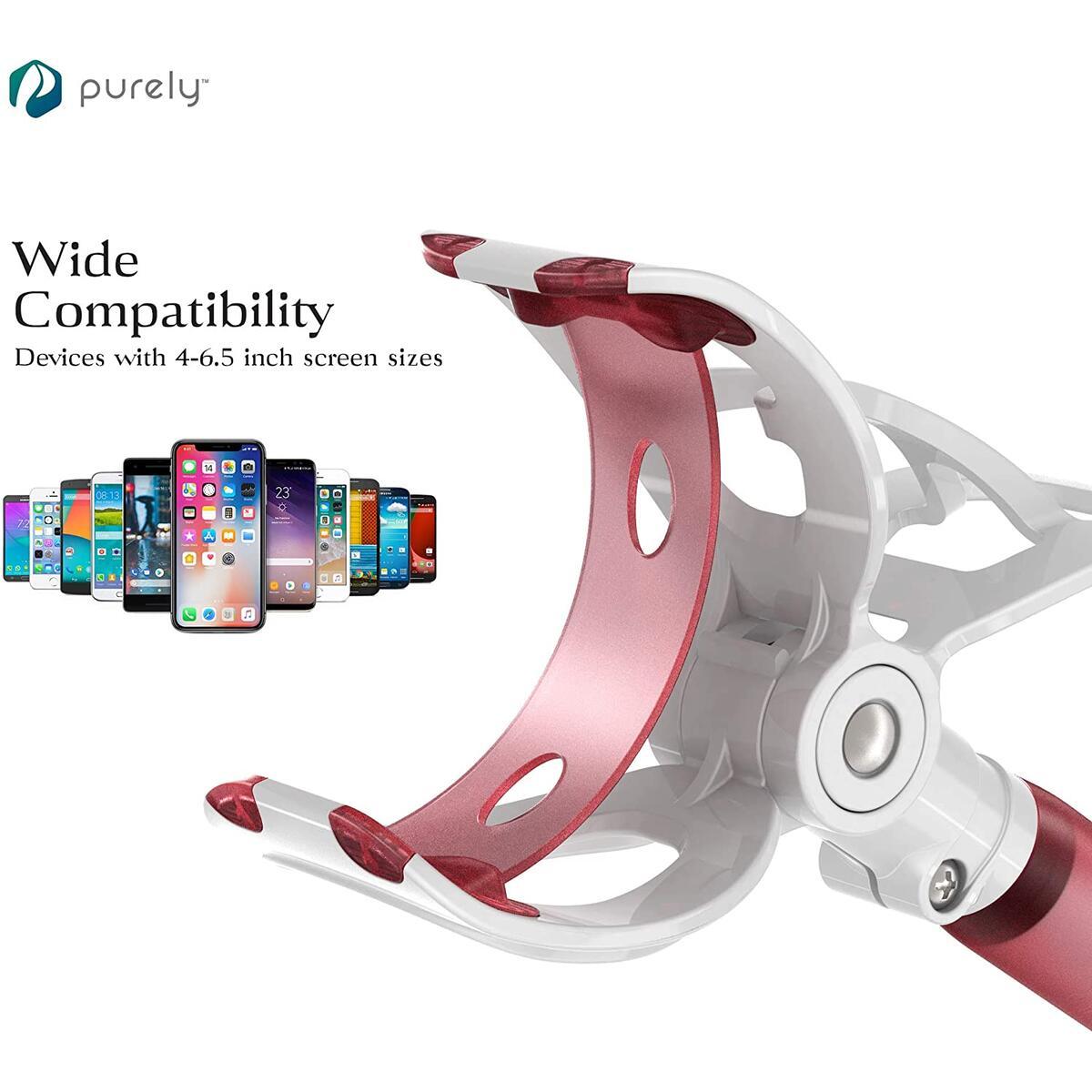 Gooseneck Phone & Tablet Holder for Desk, Night Stand, Headboard - Pink