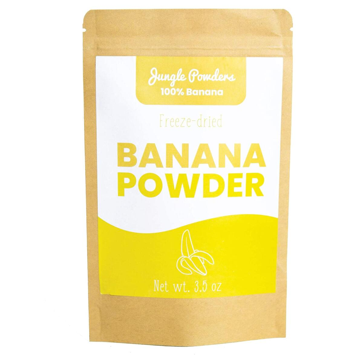 Jungle Powders Banana Powder | 3.5oz 100% Natural Freeze Dried Banana Powder | Whole Food Powder Freeze-Dried Fruit | Gluten Free No Sugar Added Non GMO