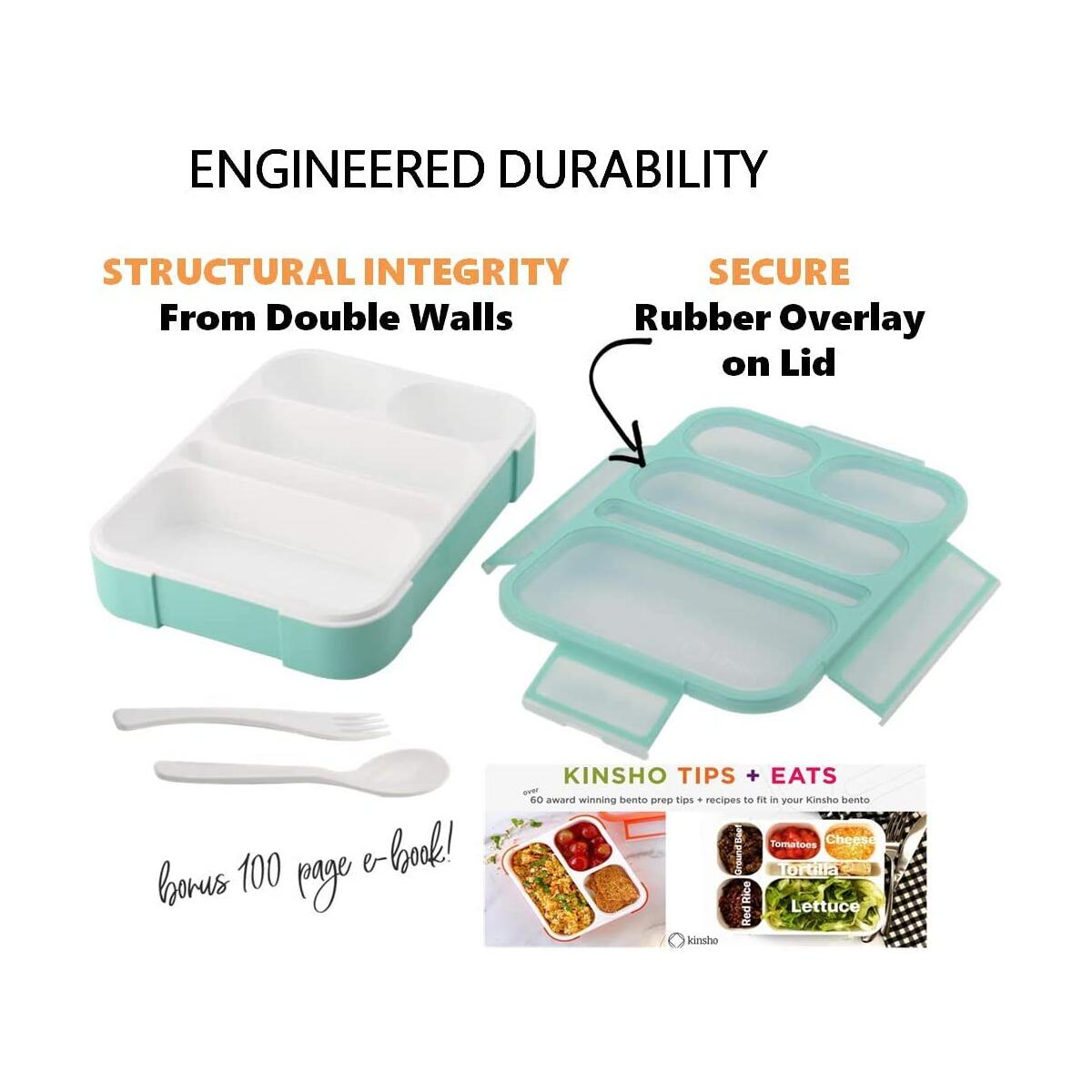 Bento Lunch Box for Kids Teens or Adults Green PRIME ONLY
