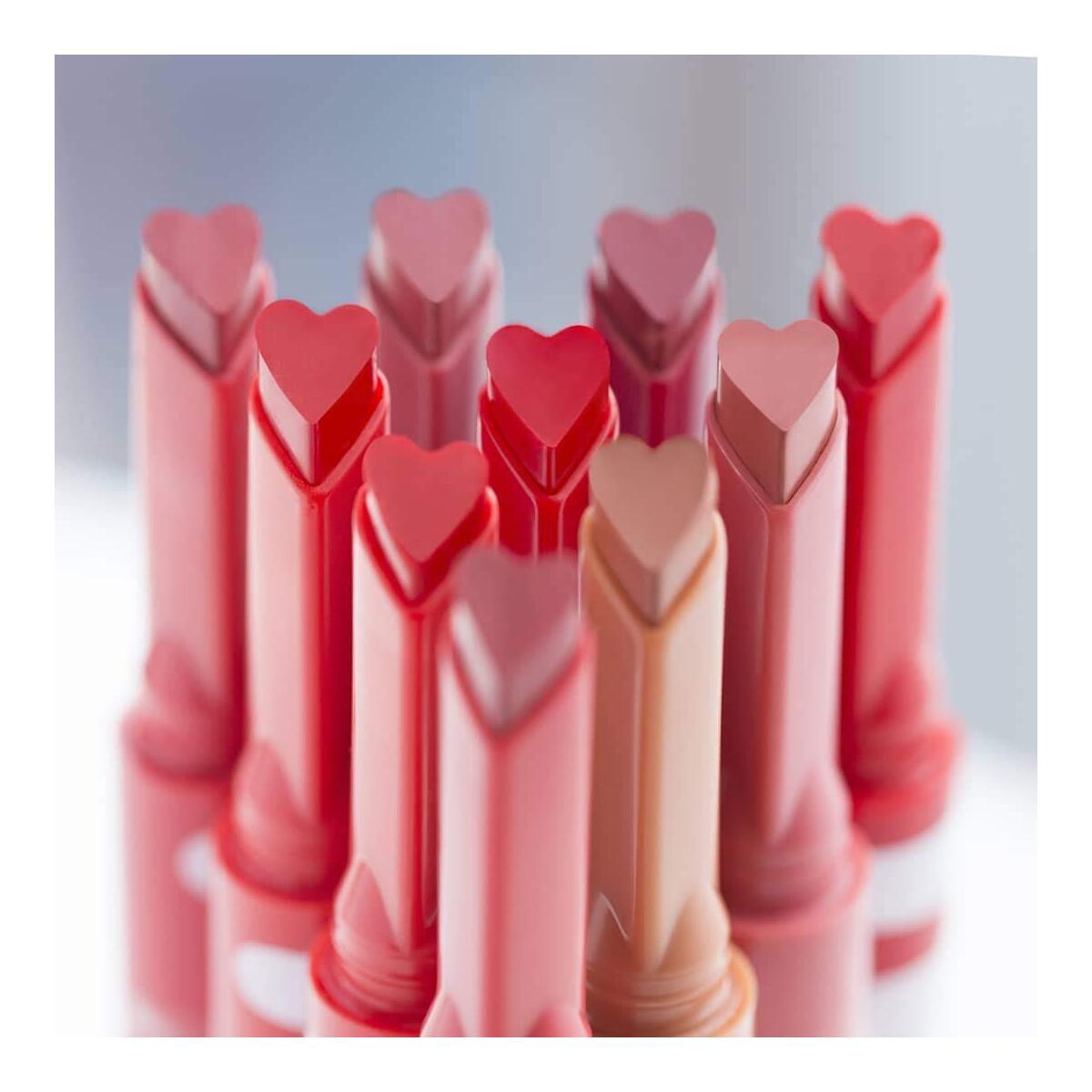 I'M MEME I'M Tictoc Lipstick Satin | Heart-shaped Satin Lipstick | 003 Scarlet Dress | K-Beauty