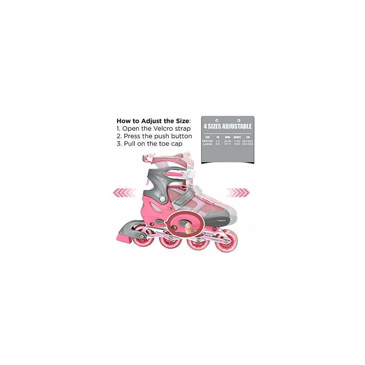 Awesome Kids Inline Skates - Pink/Grey
