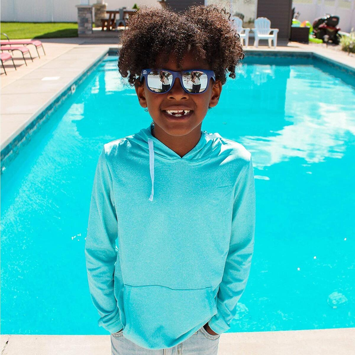 Long Sleeve Hoodie Sweatshirt - Kids UPF 50+ Protection - all colors and sizes
