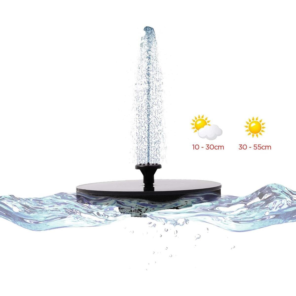 BOTARI 2020 The Newest Solar Powered Fountain Pump for Bird Bath, Upgraded Outdoor Water Fountain Pump Floating Solar Panel Kit for Garden Decoration, Small Pond, Patio, Pool, Back Yard and Fish Tank