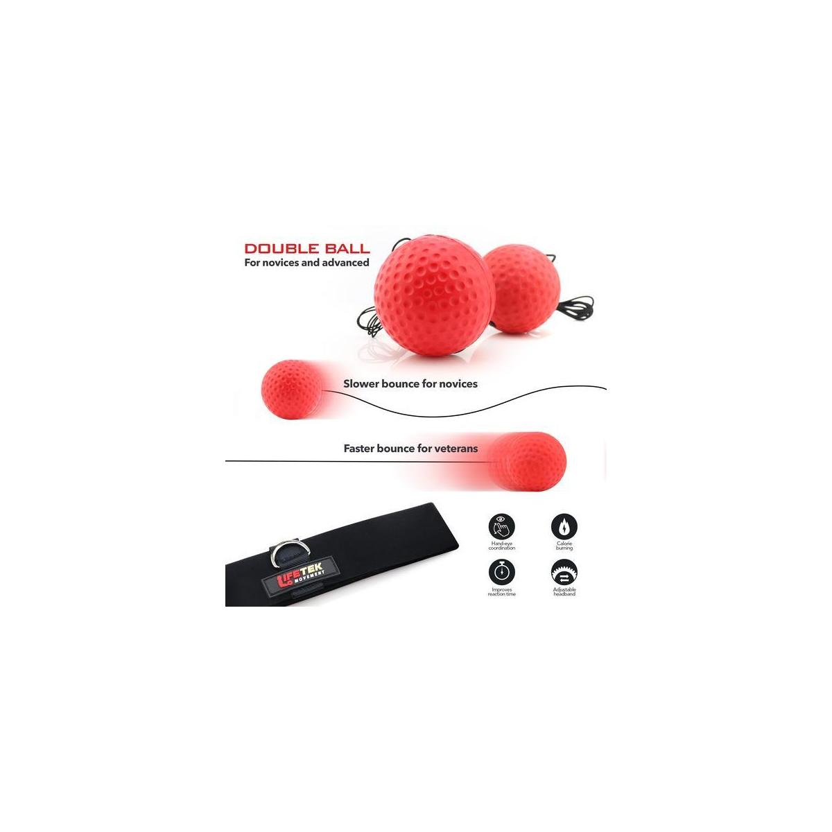 for Adults /& Kids Hand Eye Coordination /& Reflex Punching Equipment for Cardio /& Fitness Workout Headband /& Hand Wraps Included Improve Your Reaction Speed LIFETEK Boxing Reflex Ball