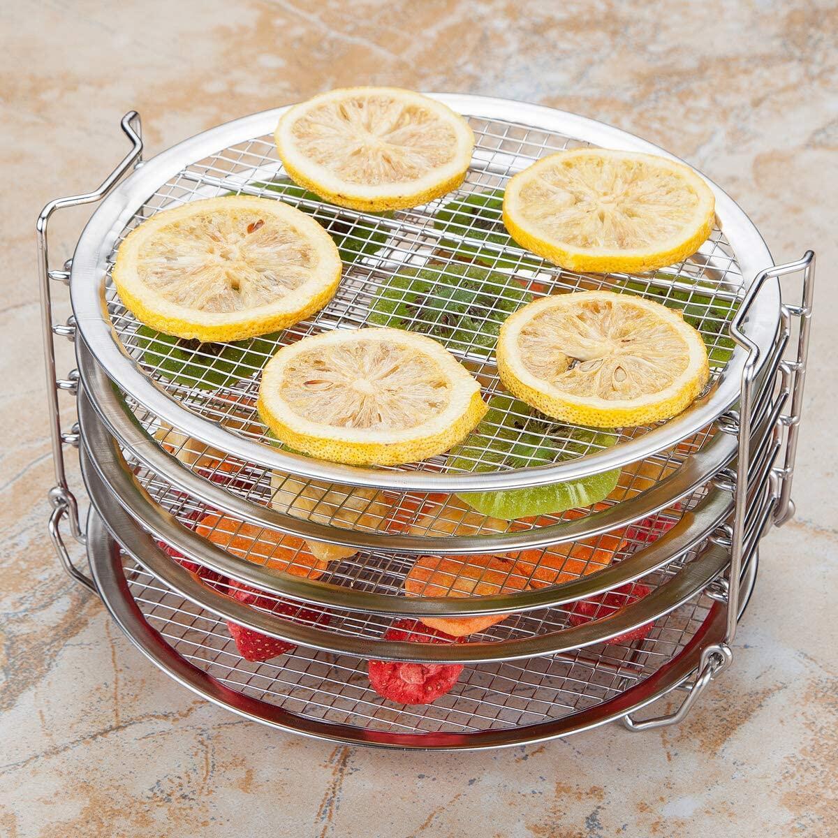 Dehydrator Rack For Ninja Foodi 6.5 & 8 qt, Instant Pot Duo Crisp 8 qt. Food Grade Stainless Steel