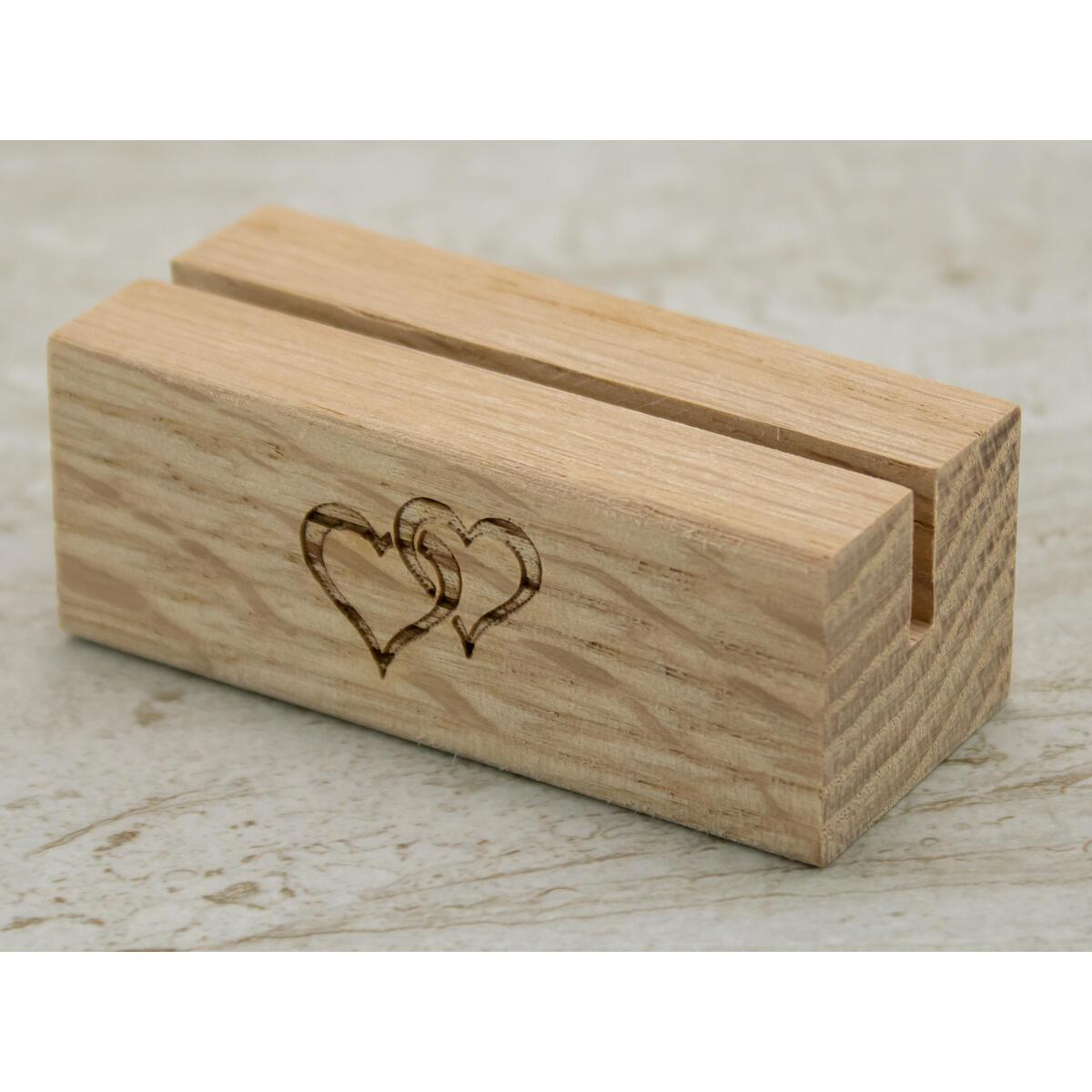 Oak Wood Table Number Holders | 20 Pack | 2.5