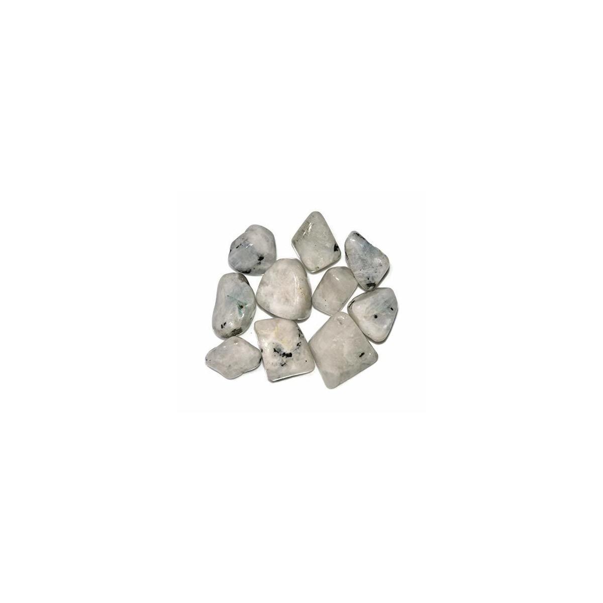 Healing Crystals India Chakra Crystals Healing Stones Natural Crystals Gemstones Spiritual Stones Reiki Healing Chakra Balancing Metaphysical Healing Polished Tumbled Stones (1, Rainbow Moonstone)