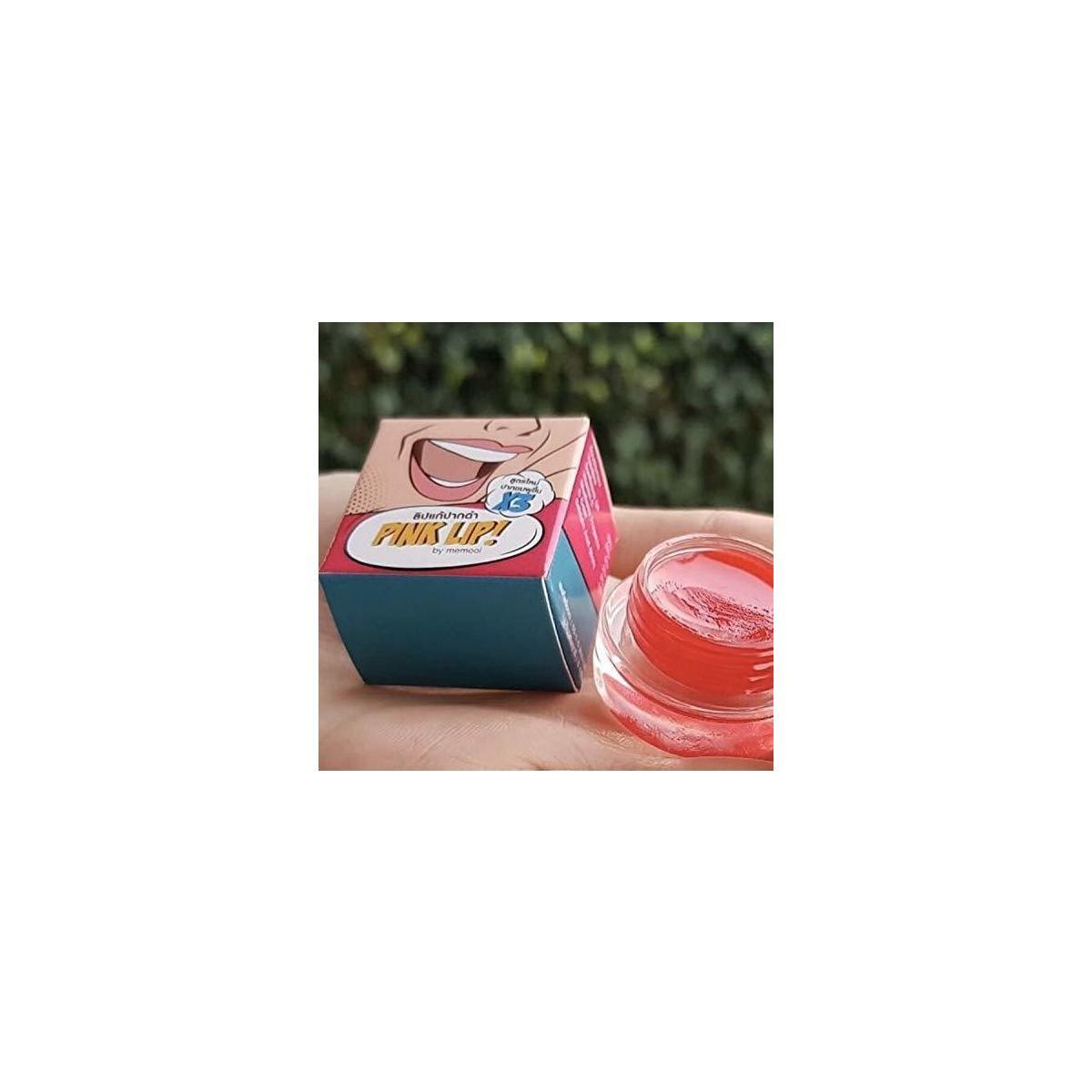 Set 2 Pcs Pink Lip Balm 5g & Lip Scrub 3g Vitamin C, E Sunflower Oil Strawberry Flavor