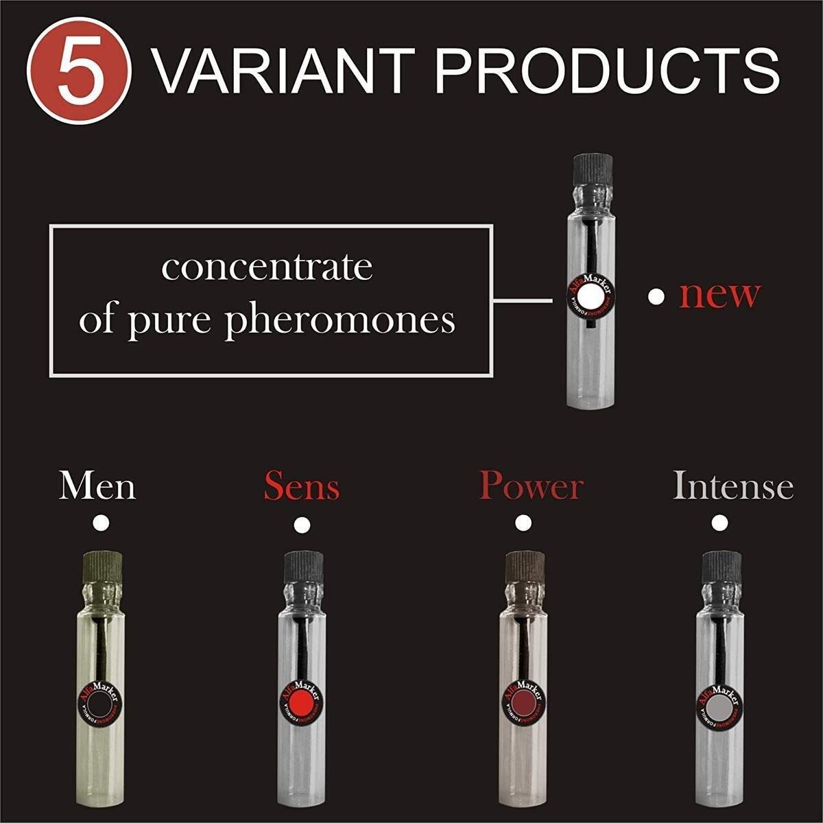 Alfamarker Pheromone Perfume Set for Men to Attract Women. 5 Male Pheromone Perfumes x 2ml