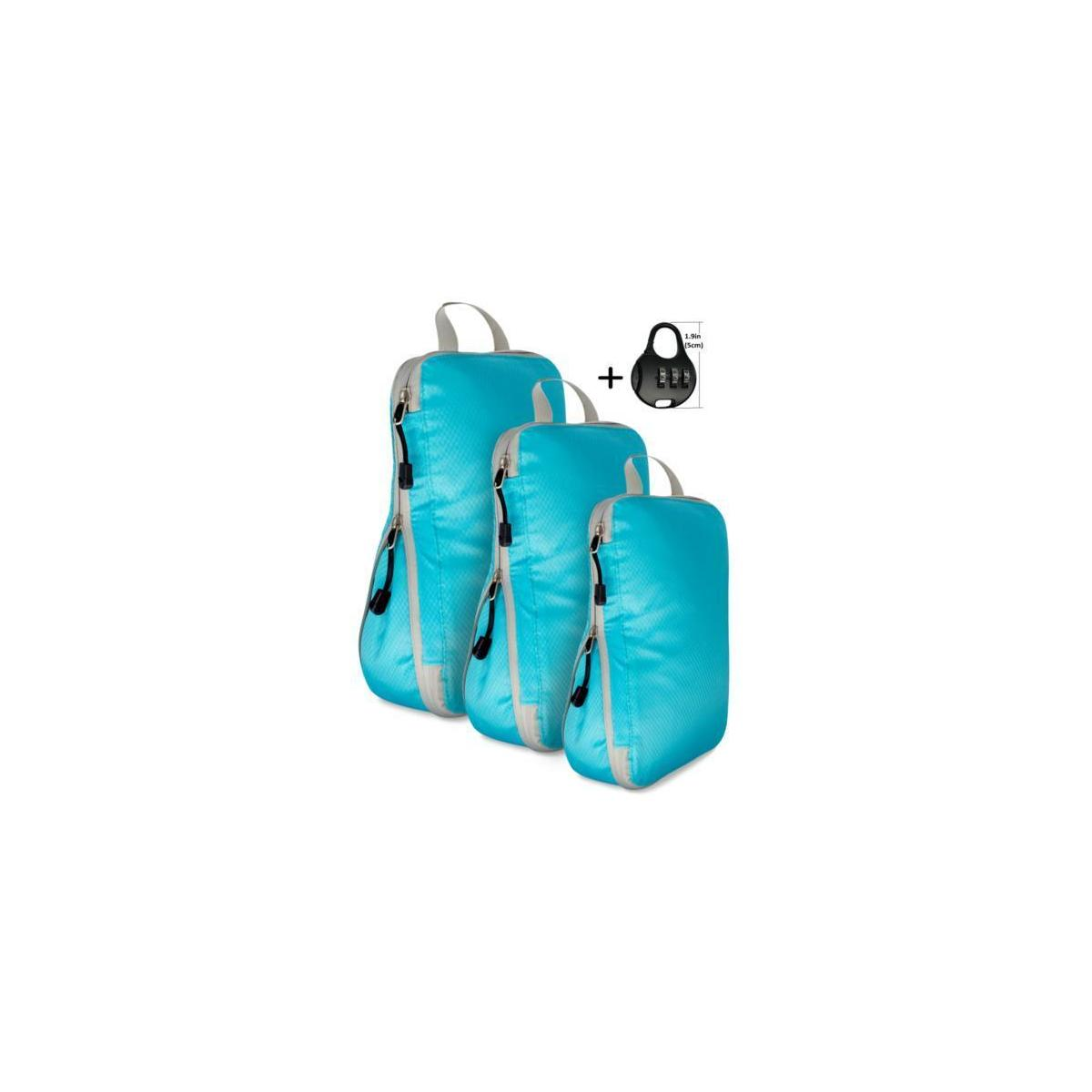 EVEK Compression Organizers Set Packing Cubes for Carry on Travel Bag Luggage Cube (Choose color)