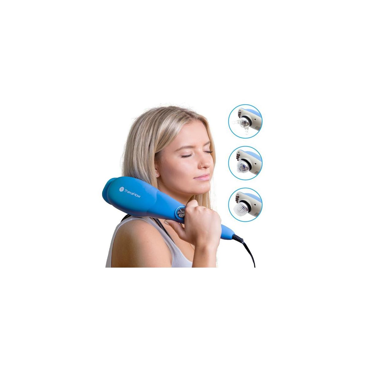 TheraFlow Deep Tissue Massager For Relaxation & Muscle Relief - Back, Shoulders, Scalp, Neck Foot & Body