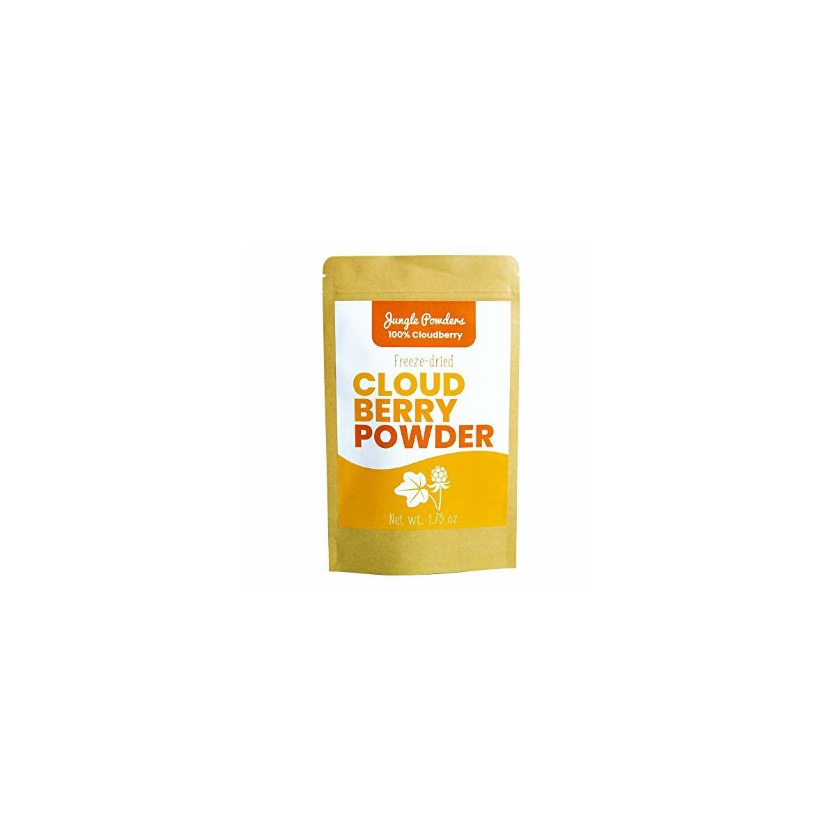 Jungle Powders Wild Cloudberry Powder   1.75oz 100% Natural Cloudberry Extract from Pure and Clean Arctic Nordic Forests   Superfood Powder Freeze Dried Arctic Cloudberry
