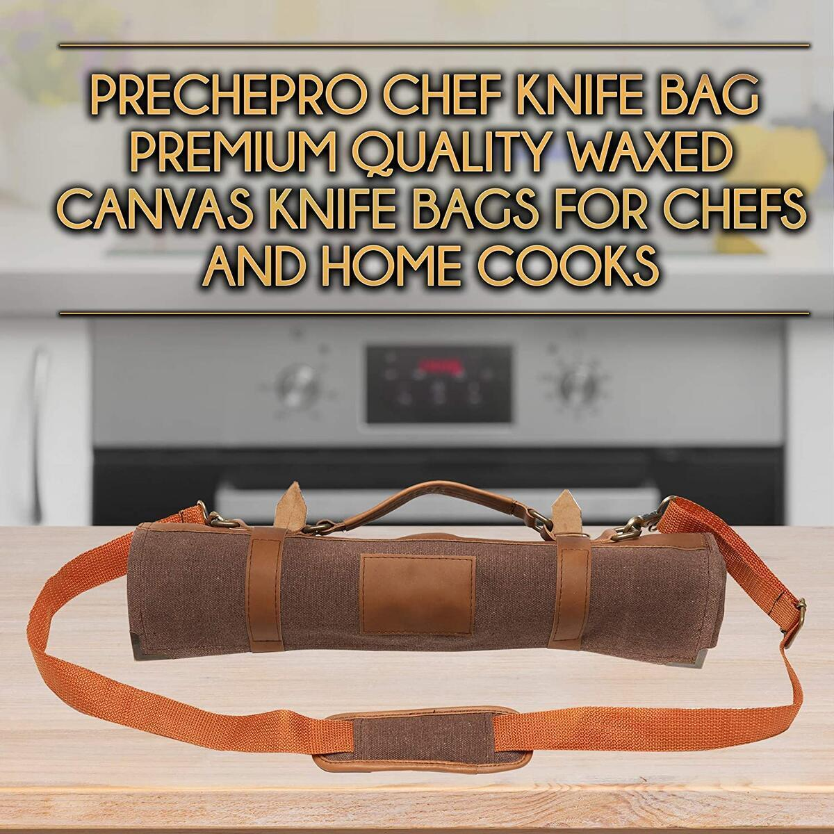Professional Style Chef Knife Roll - 10 Knife Pockets + Tool Pouch