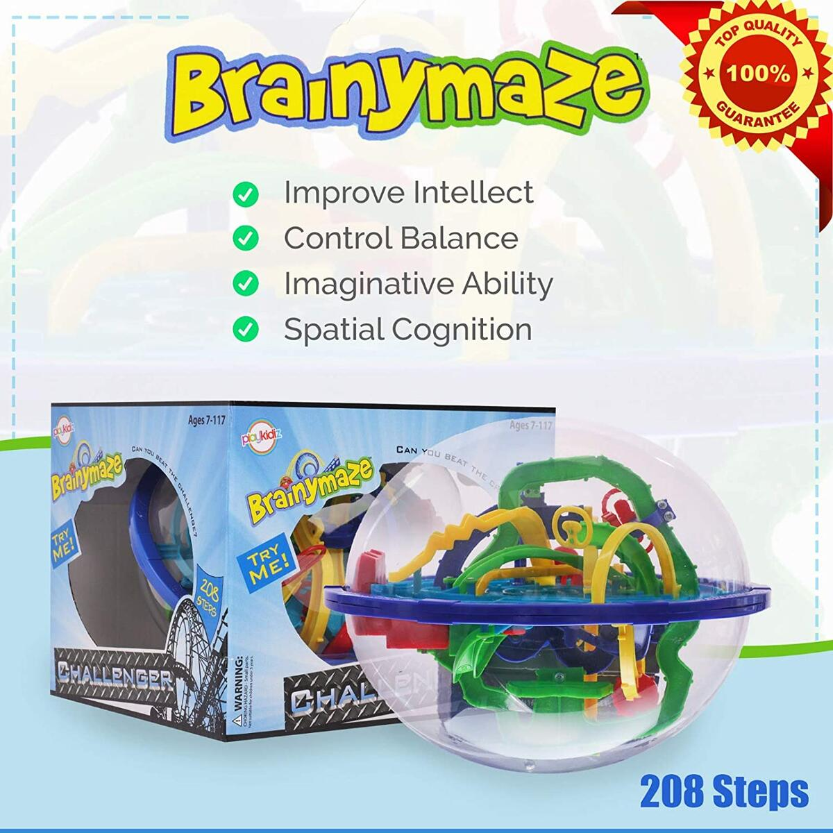 Brainymaze Challanger, 3D Maze Game with Over 200 Obstacles, Great Puzzle to Test Stabilizing Skills.