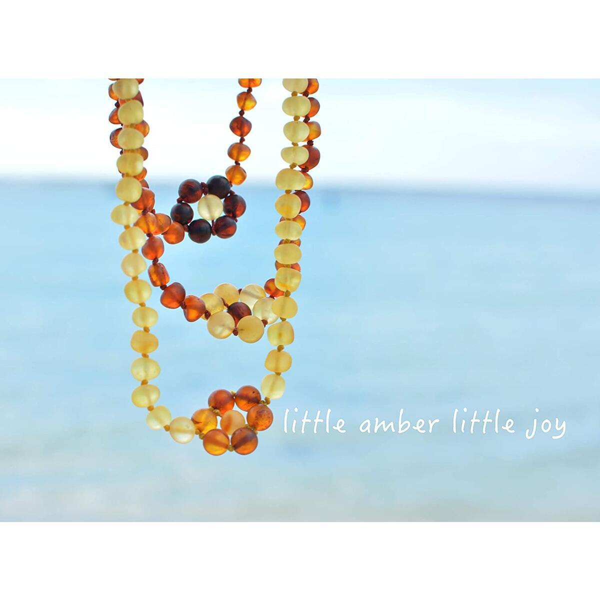 Amber Land Frosted Genuine Baltic Amber Necklace Frosted for Unisex 【12.5 inch】Certificated Natural Baltic Amber (Cognac Flower+ Lemon Necklace)