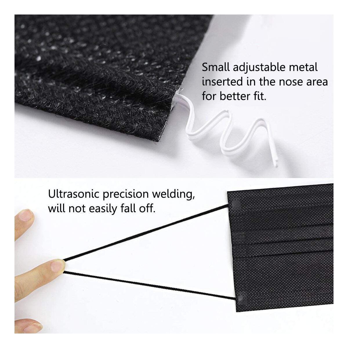 Black Disposable Masks - Non Medical