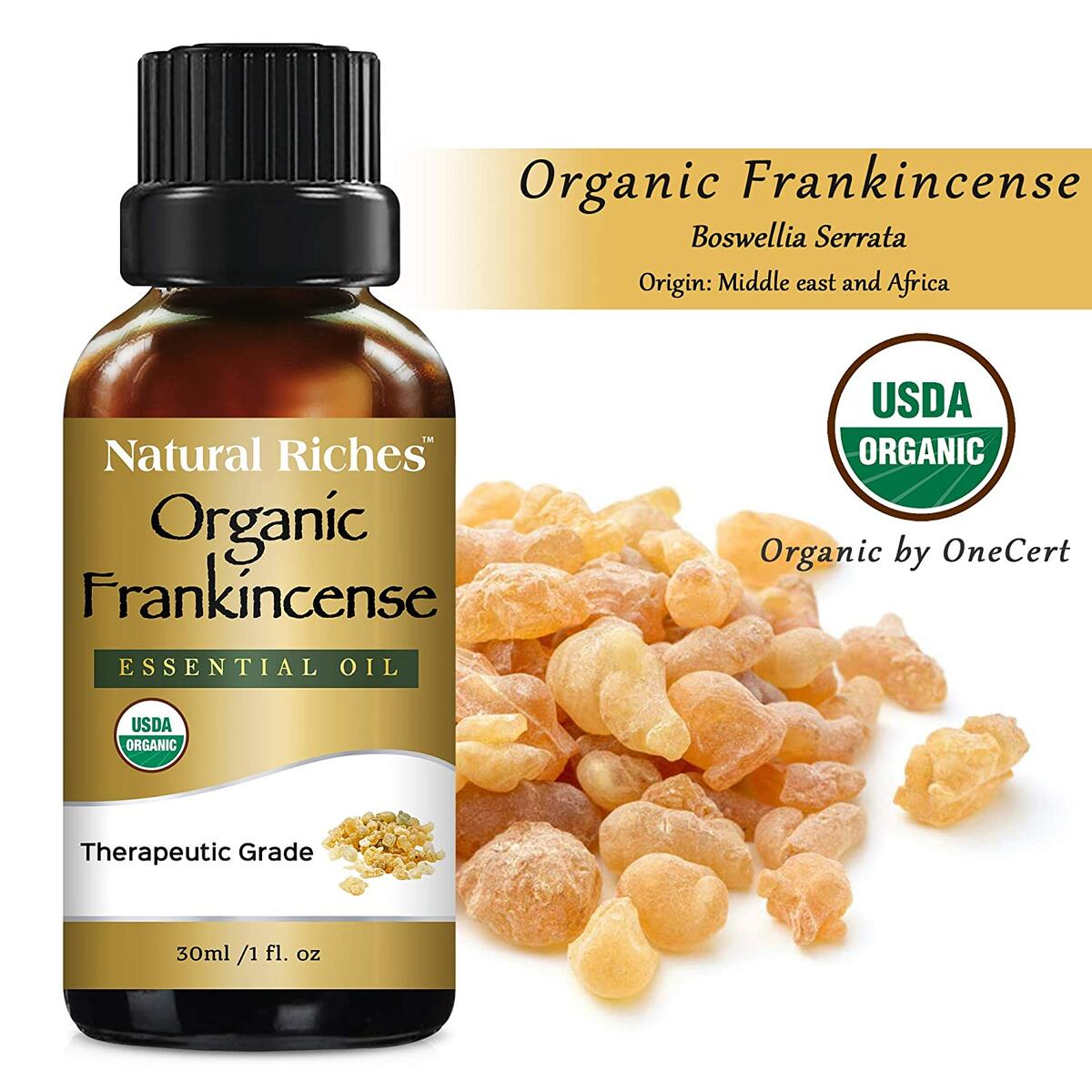 USDA Organic Frankincense Essential Oil - Boswellia Serrata,