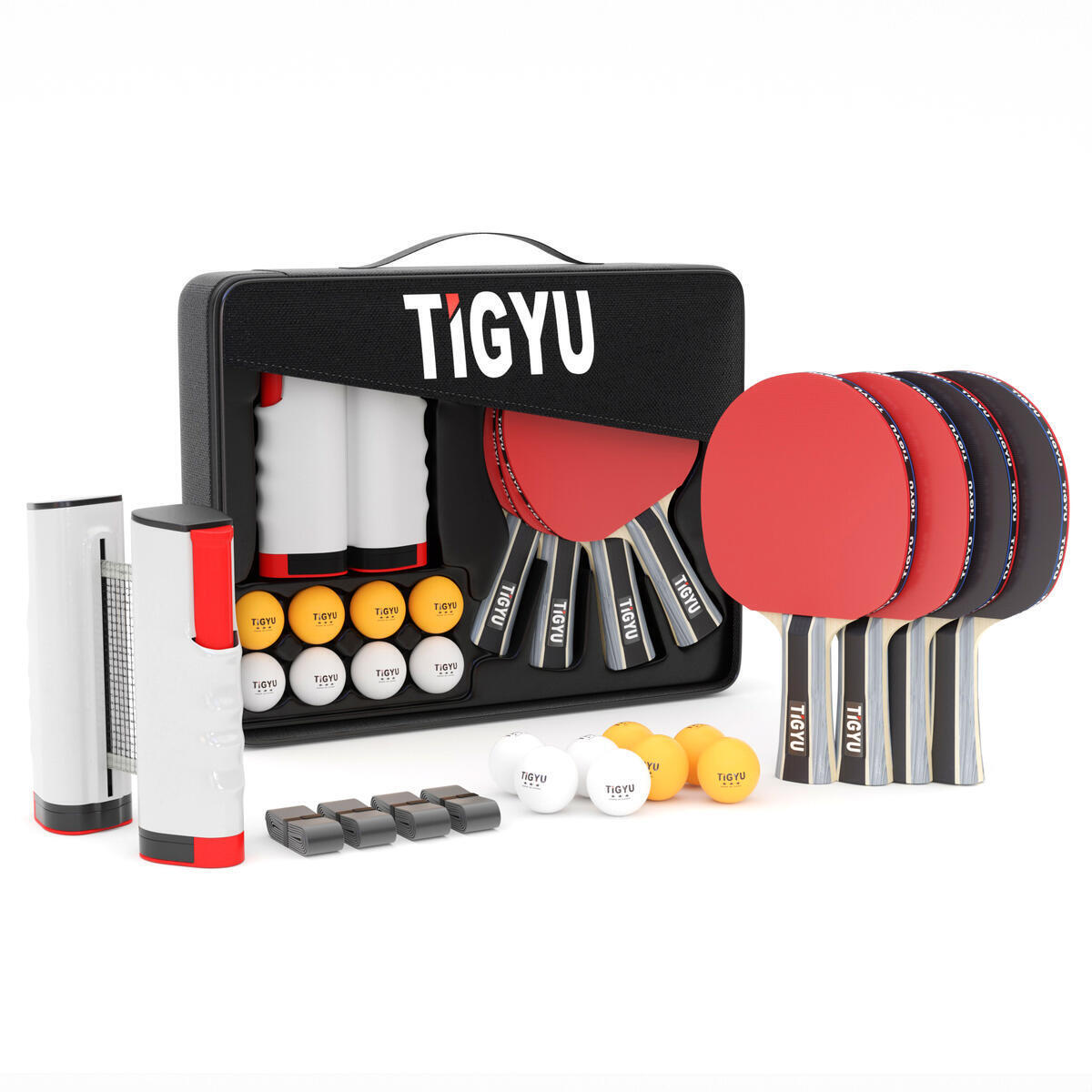 Tigyu Portable Ping Pong Set With Storage Case