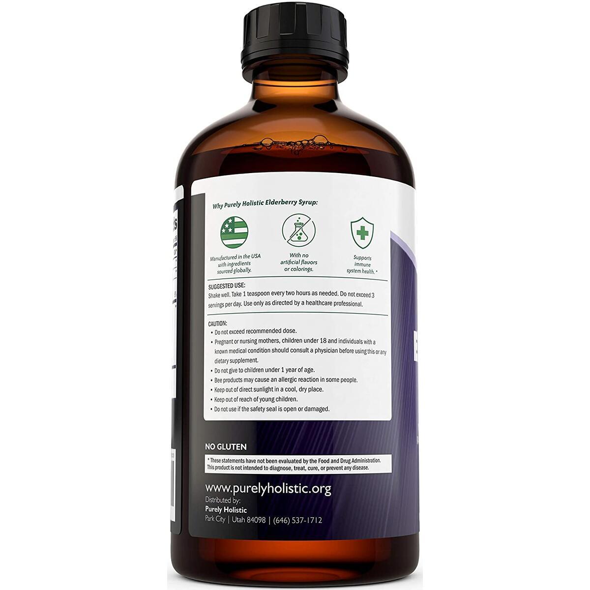 Elderberry Syrup - 50% MORE 16 fl oz - With Organic Black Sambucus Elderberry, Apple Cider Vinegar, Raw Honey, Propolis & Echinacea - Immune Support and Immune Booster for Adults & Kids
