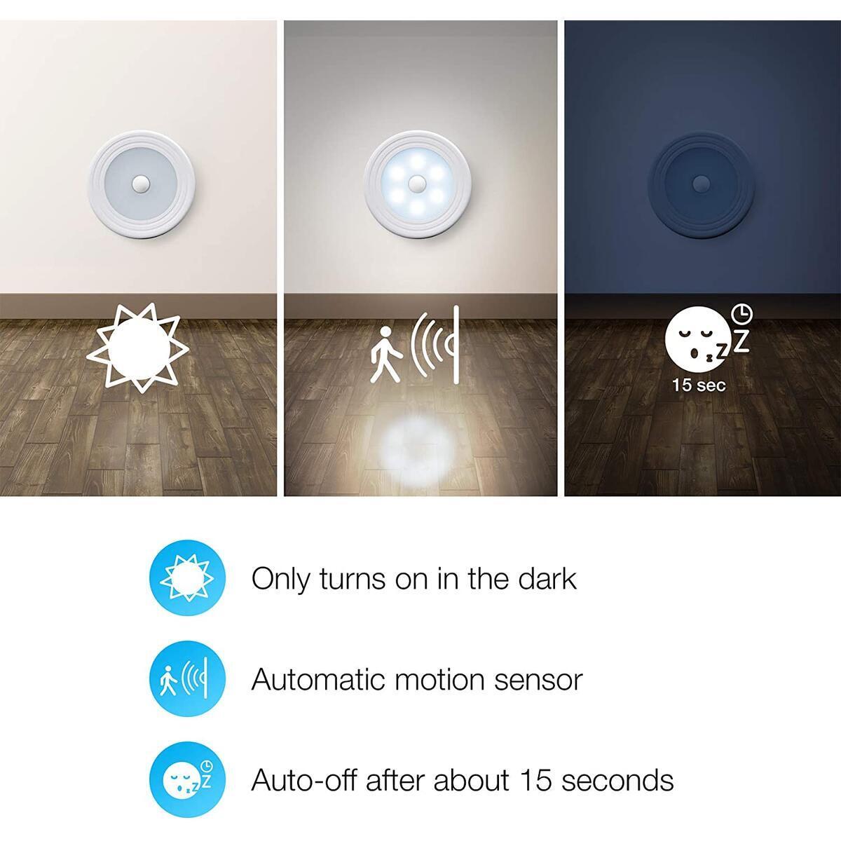 Stick ON LED Lights, Closet Lights (Motion Sensor Lights) 3 Pack
