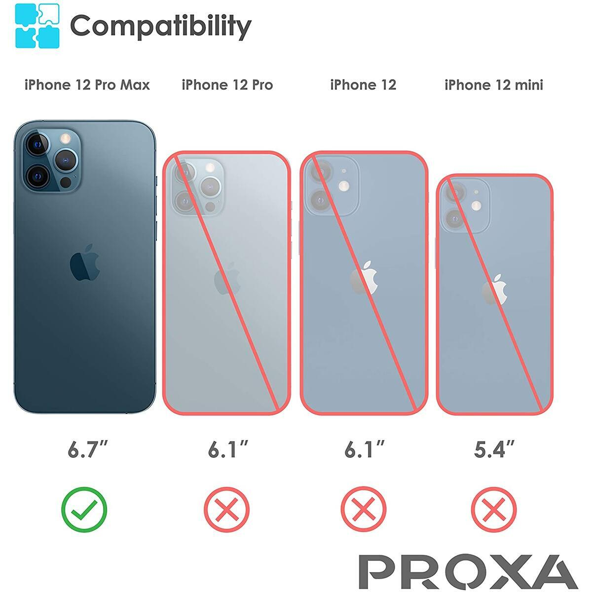 PROXA Phone Case Designed for iPhone 12 Pro Max 6.7 inch (2020)/Compatible with Apple MagSafe Charger - [Protective/Scratchproof] - Pacific Blue