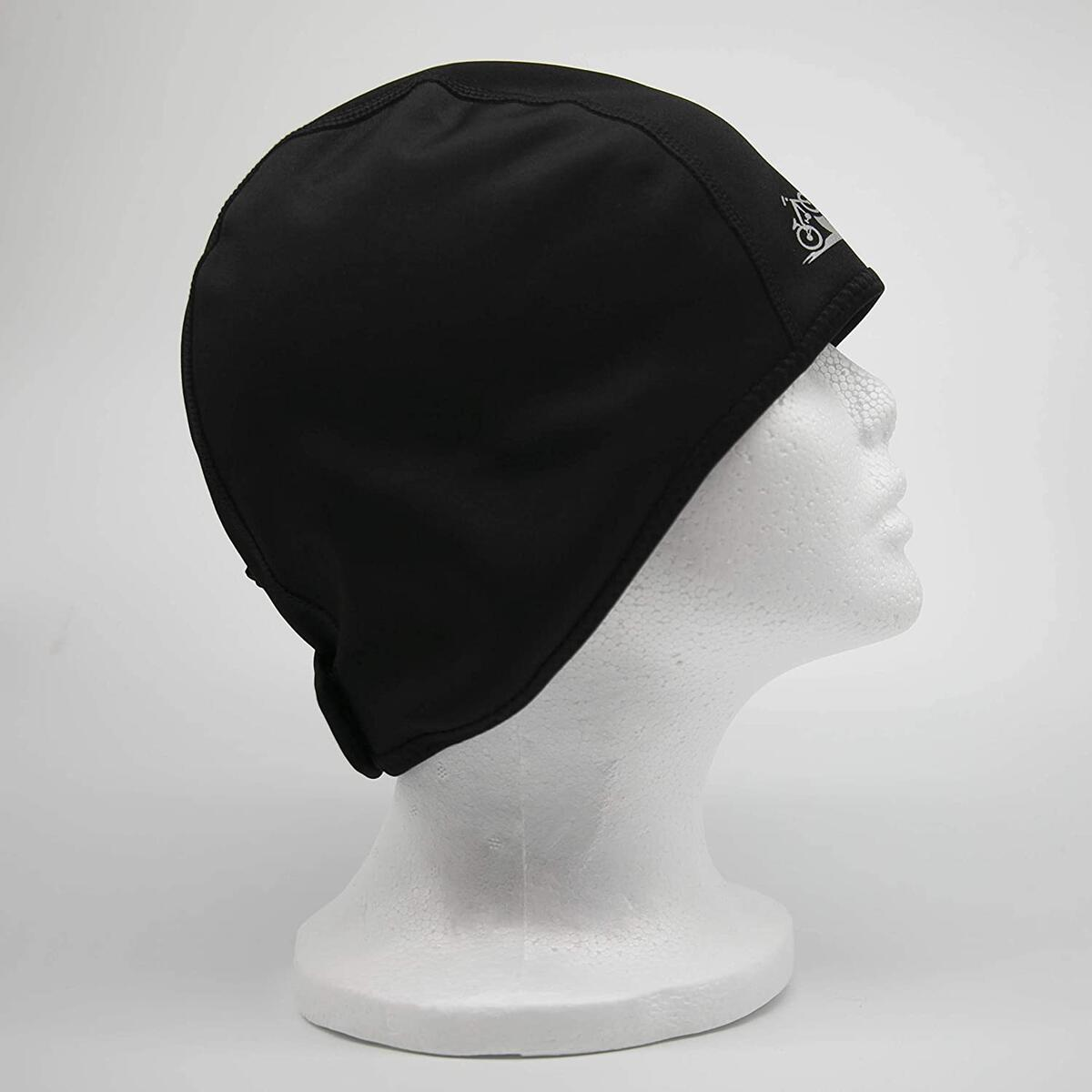 Adjustable Thermal Skull Cap for Cyclists and Runners | Head and Ear Warmer | Fleece Liner Under Helmet | Specialized Black Skiing Headband | Warm Breathable Cycling Cap