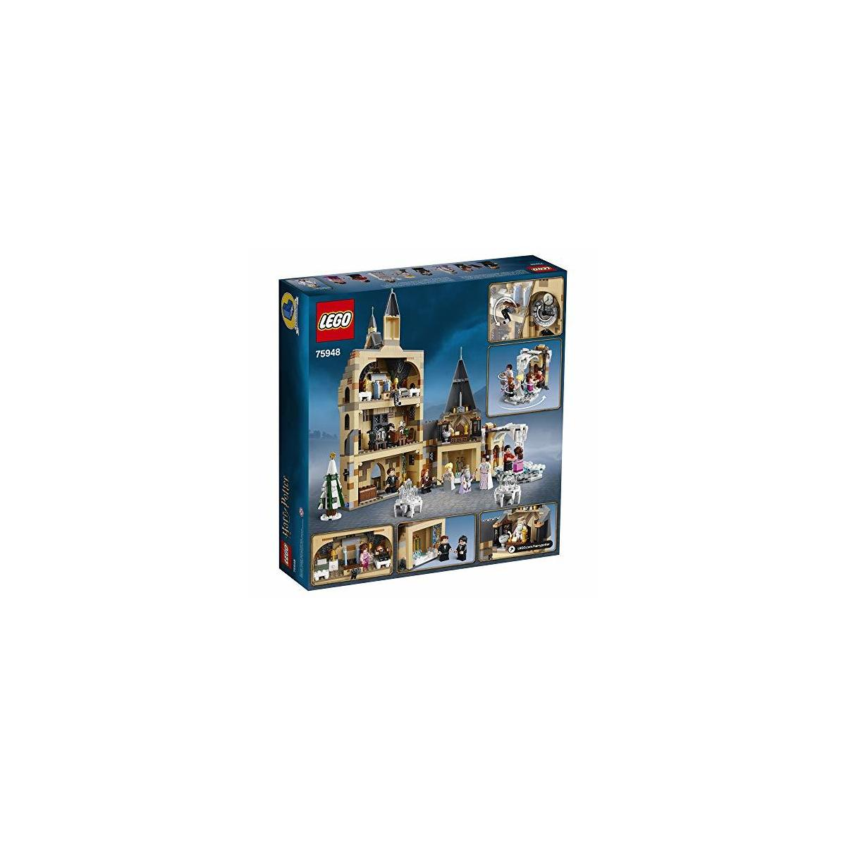 LEGO Harry Potter Hogwarts Clock Tower 75948 Build and Play Tower Set with Harry Potter Minifigures, Popular Harry Potter Gift and Playset with Ron Weasley, Hermione Granger and more (922 Pieces). Overbox