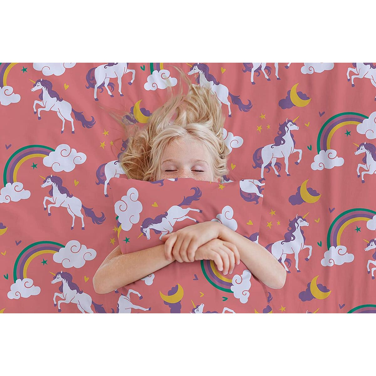 Lunar Unicorn Twin Sized Bed Sheets
