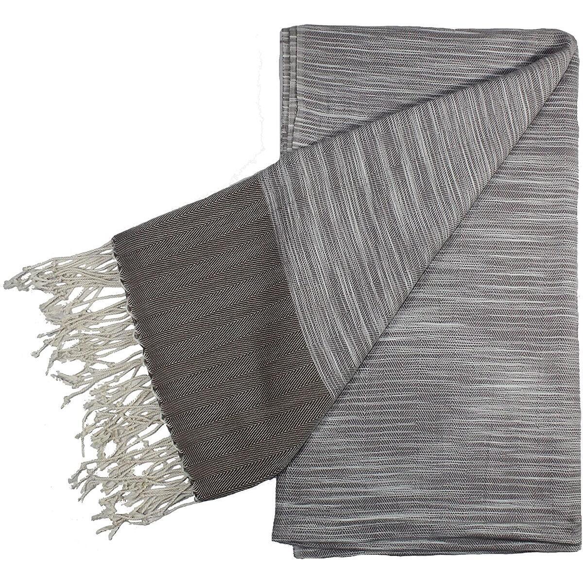 Premium Turkish Cotton Peshtemal Towel Handloom, Beach Towel, Bath Towel (Beige)