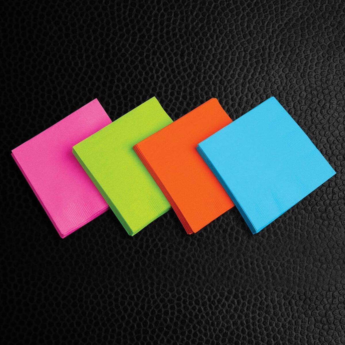 128 Piece Party Supplies Set/ Blacklight UV Glow in The Dark Kit, Assorted Neon