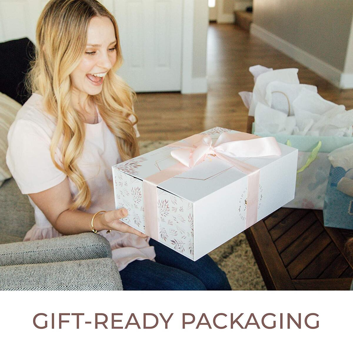 New Mom Gift Basket by First Landings | Gift Ideas for First Time Moms | Gifts for The Pregnant Mommy to be | Self Care Package for Postpartum Mother | Pregnancy Gift