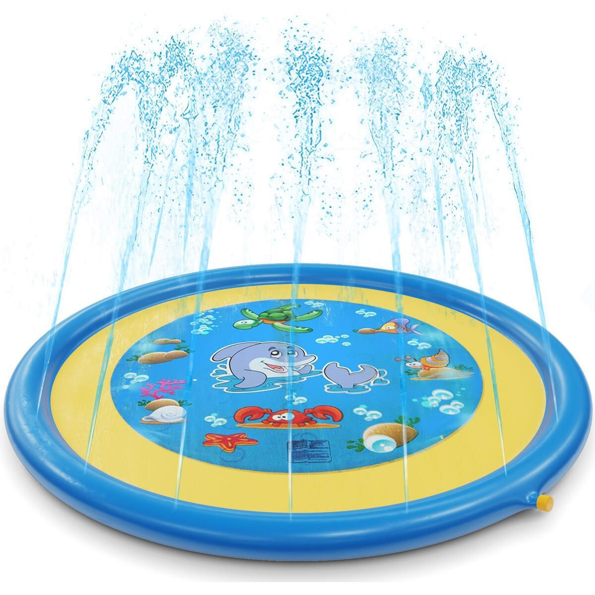 """Sprinkler for Kids Splash Pad for Toddlers Outdoor Toys for Kids Water Toys Sprinkle Play Mat Backyard Water Park for Baby Pool 68"""""""