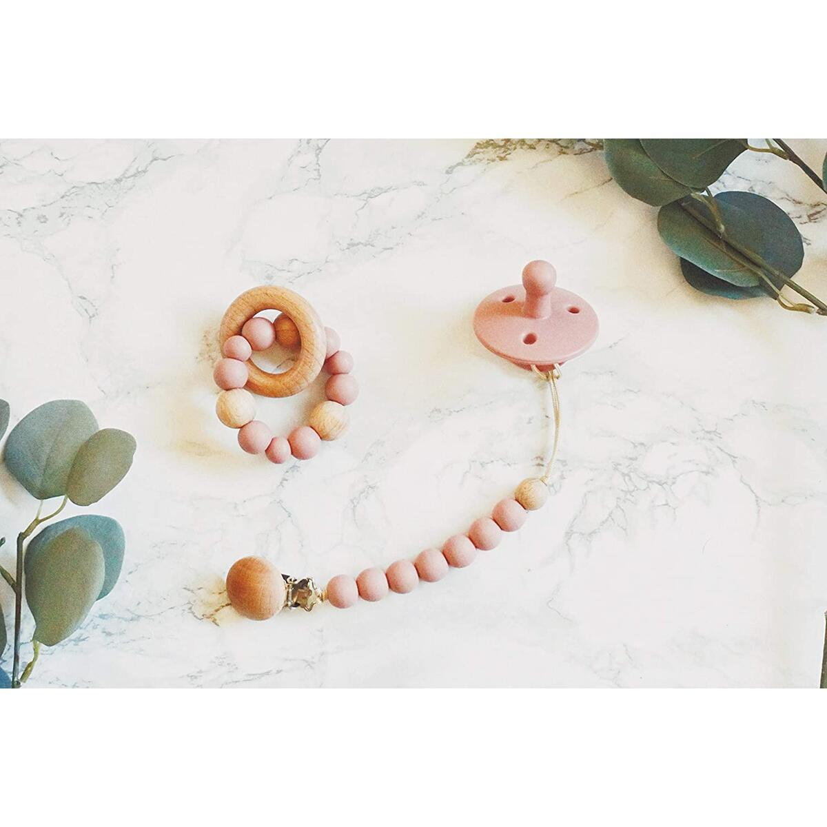 Baby Pacifier, Paci Clip, and Teether Set