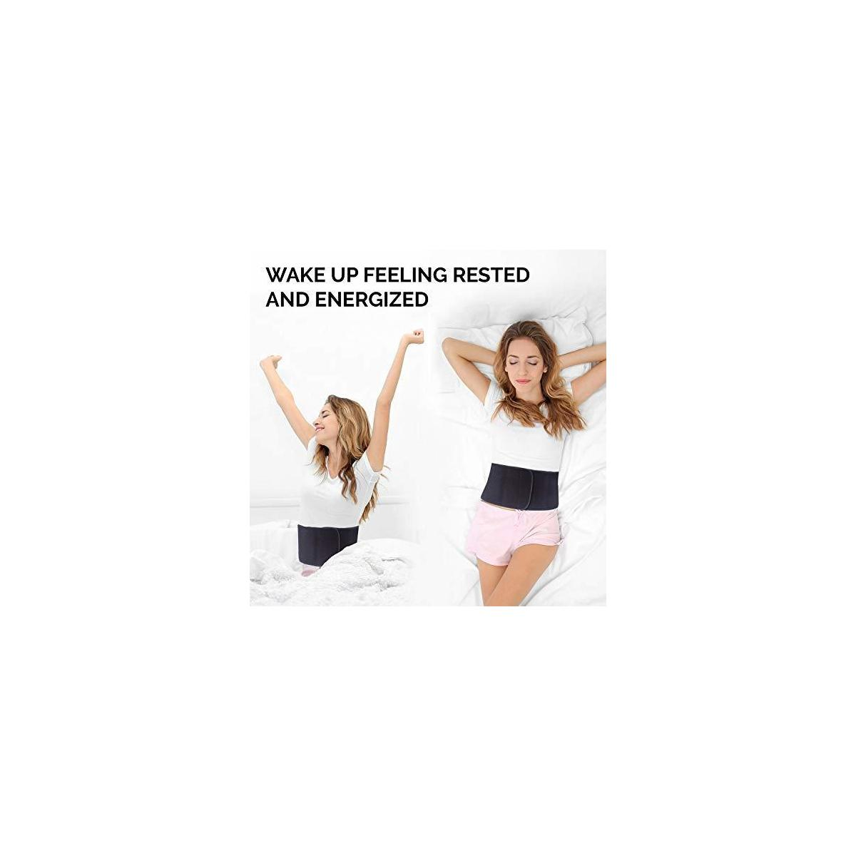 Back Support Pillow for Sleeping with Adjustable Belt