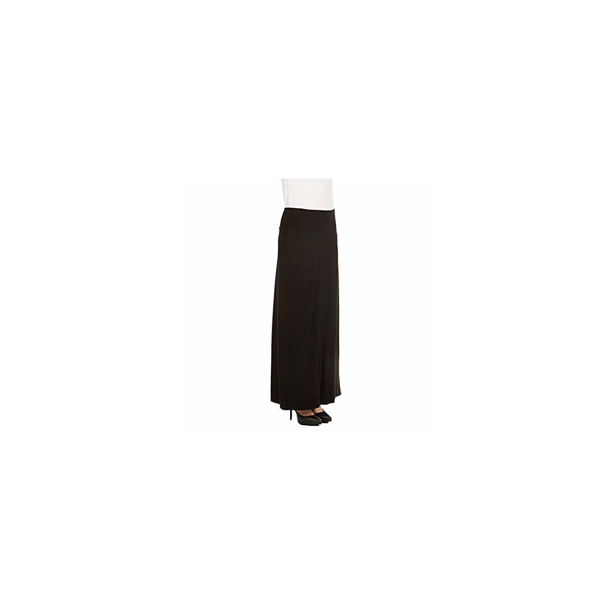 REBATE FOR BLACK, SIZE: 3X  PLUS SIZE--------X America Maxi Skirt for Women Foldover Long Skirt Junior and Plus Size Skirts for Women