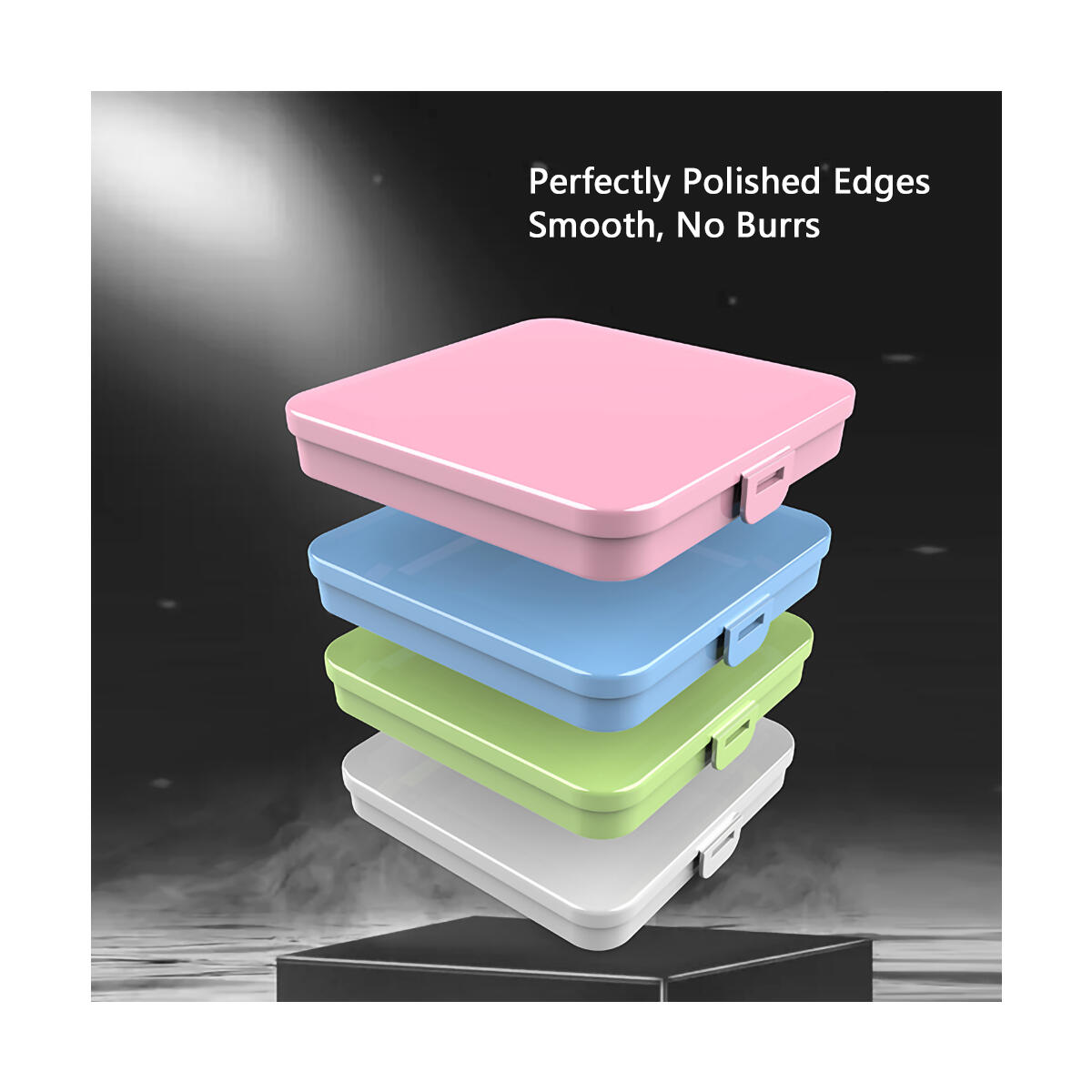 Food-Grade Plastic Mask Case - Perfectly Polished Mask Storage Case, No burrs - Thick Mask Case Holder for Reusable and Disposable Masks - Portable Mask Container