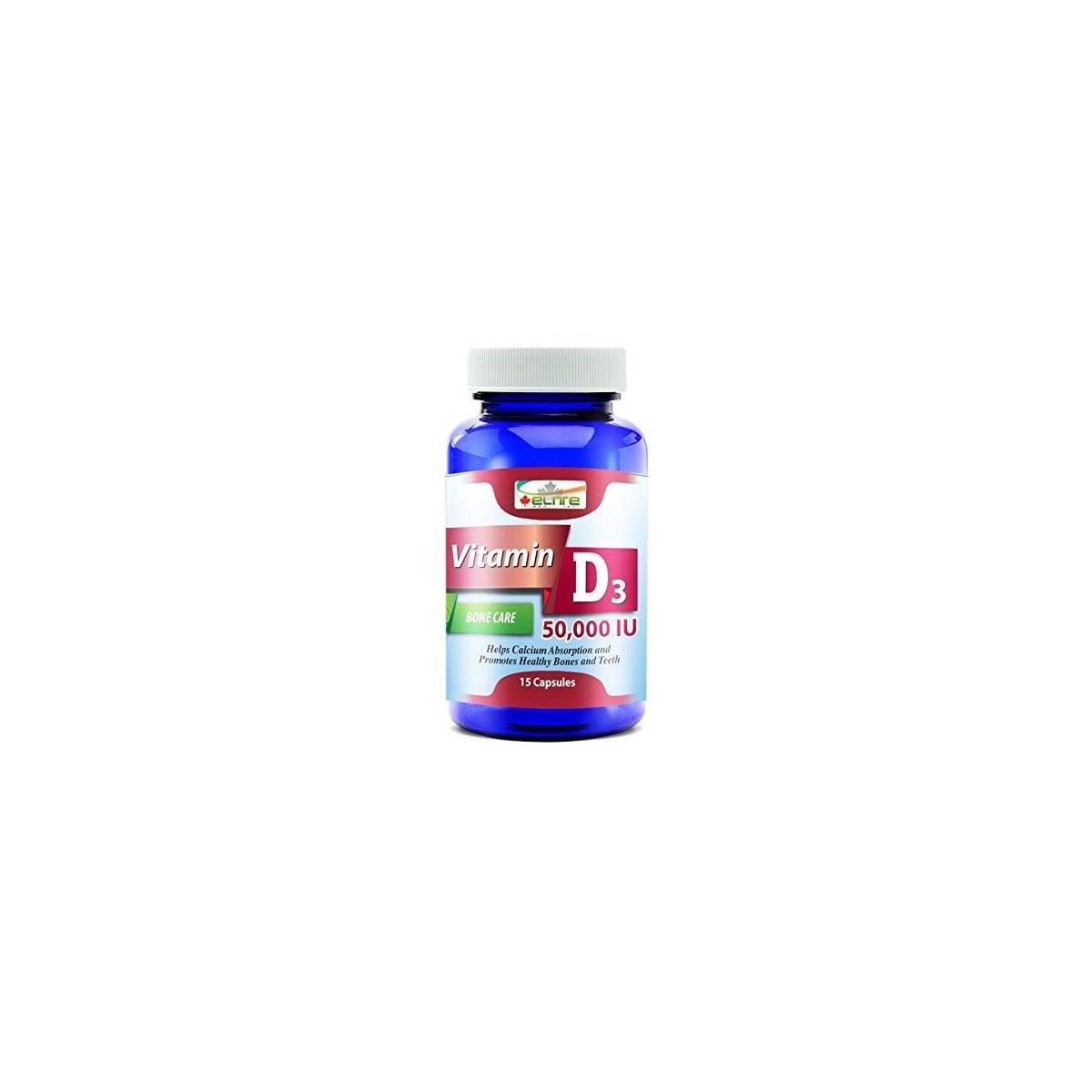 Vitamin D3 50,000IU - Made in Canada