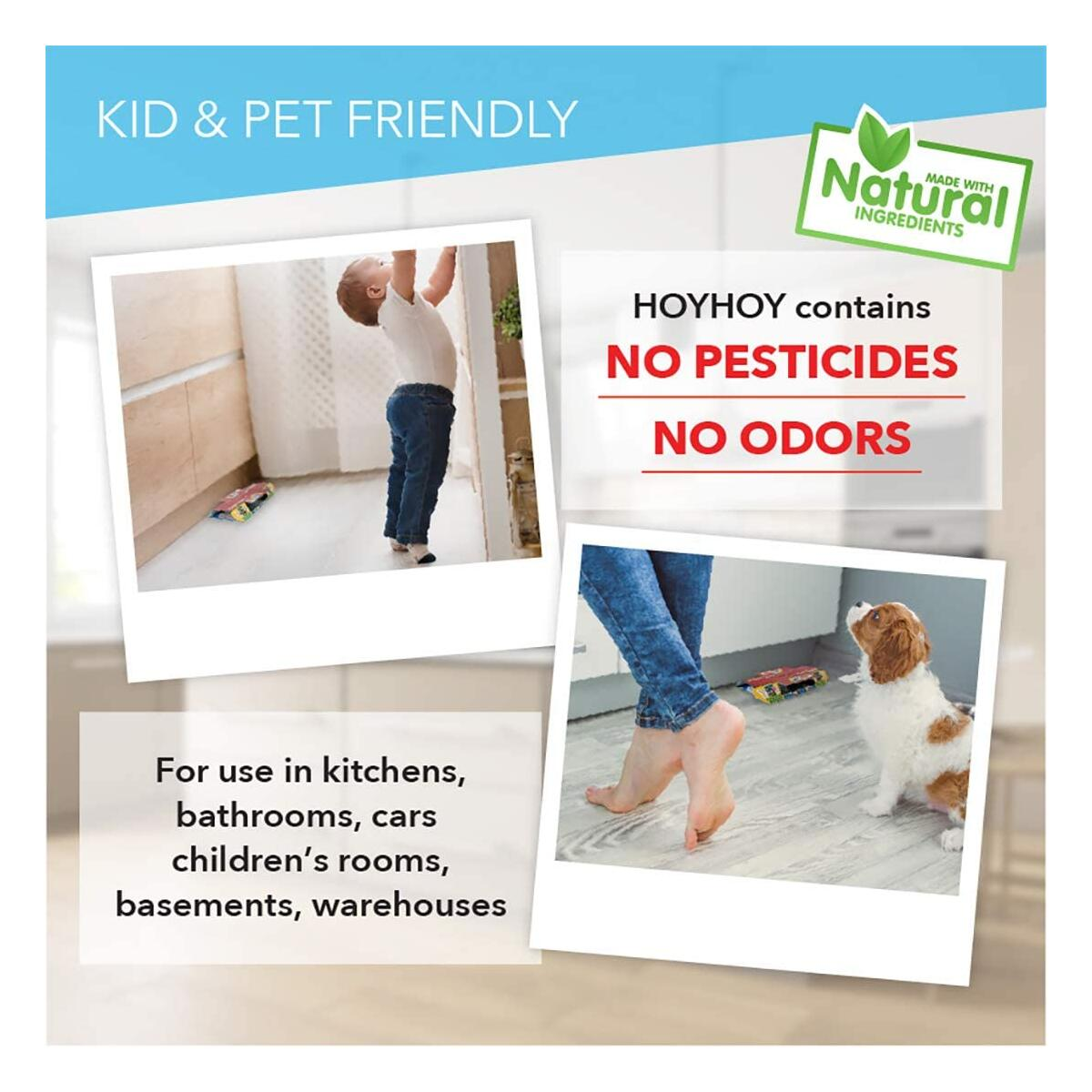 HOY HOY Cockroach Trap Roach Glue Sticky Traps - 5 Count Pesticide-Free Indoor New Version