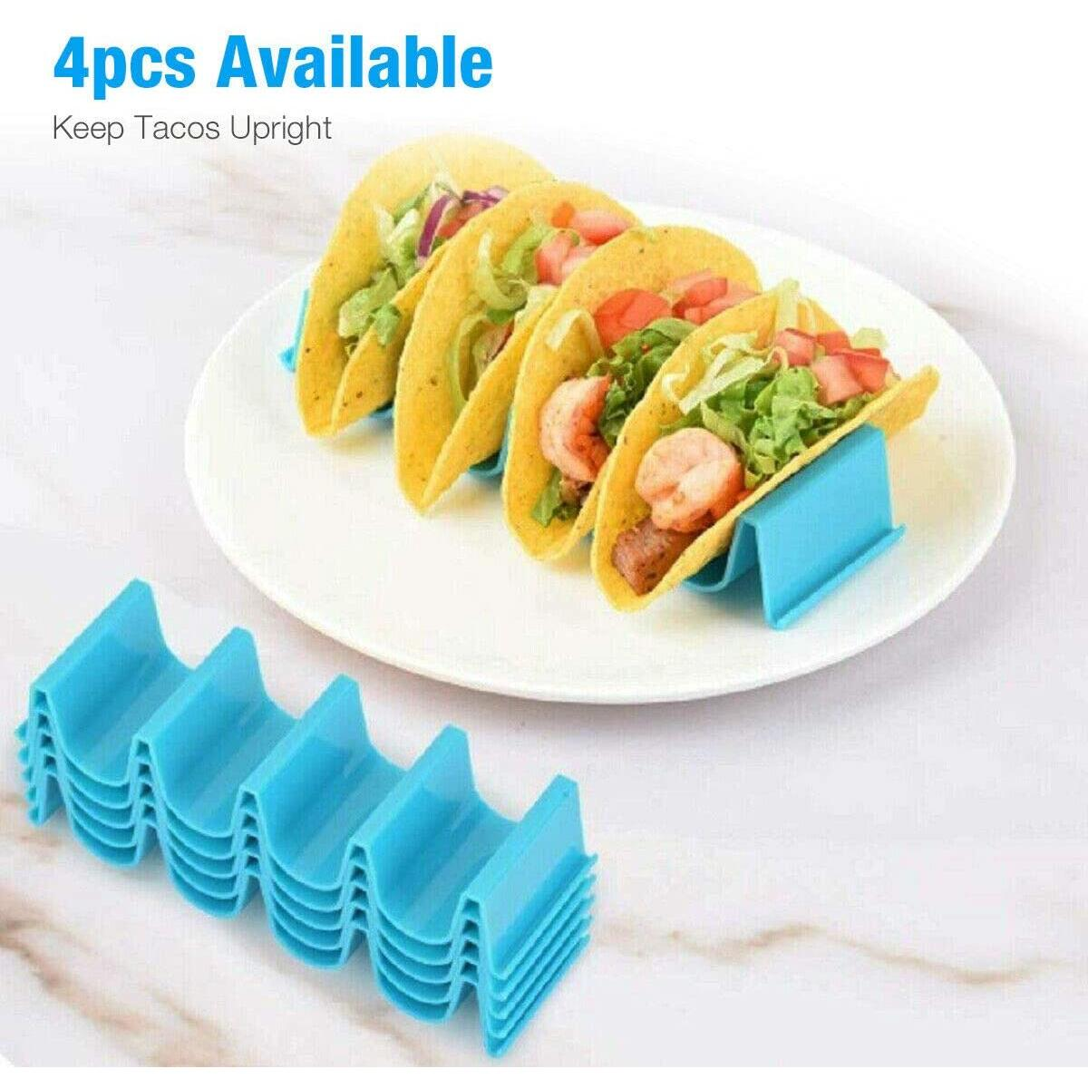 6Pcs Taco Holder Mexican Food Wave Shape Hard Rack Stand Kitchen Cooking Tool US