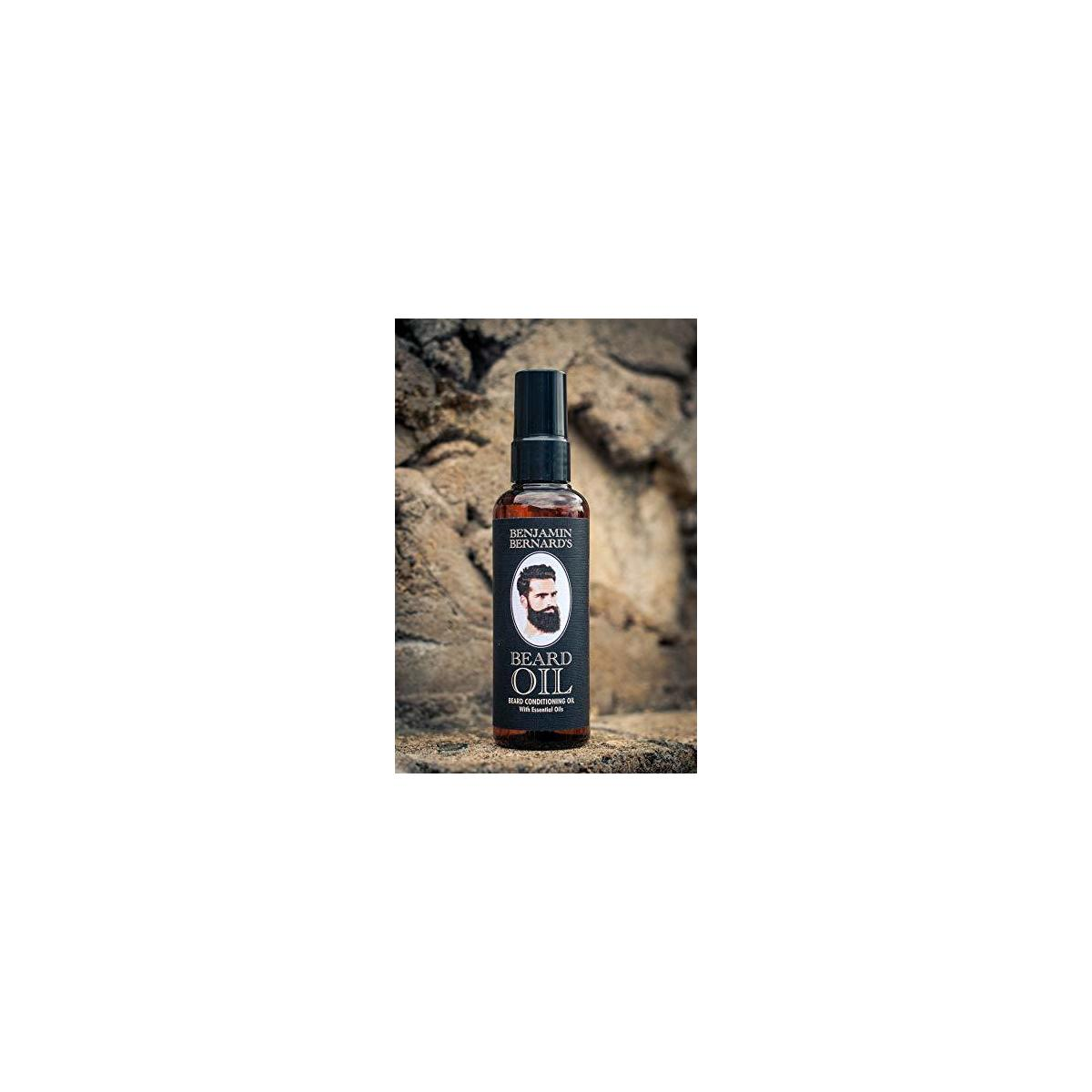 Beard Oil - Vegan and Cruelty-Free Beard Grooming Conditioner Oil for Men by Benjamin Bernard