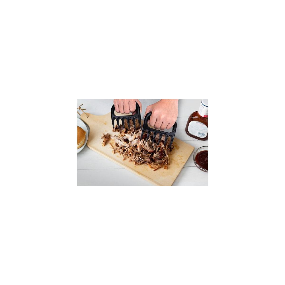 TEN-1 BBQ Gloves 932F Extreme Heat Resistant Grill Gloves for Outdoor Cooking with Bonus Meat Claws Pulled Pork Shredder and Olive Oil Sprayer Glass Bottle