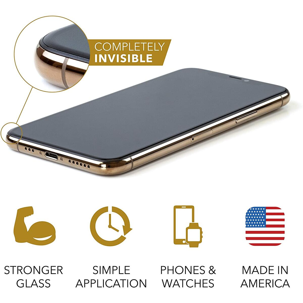 cellhelmet Liquid Glass Pro+ Screen Protector | $300 Screen Repair Guarantee | Universal for All iPhone, Apple Watch, Samsung Galaxy Phones | Made in USA | As Seen on Shark Tank | Retail Packaged