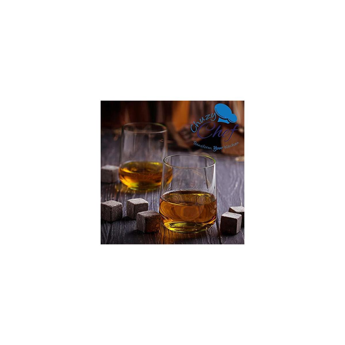 Whiskey Stones Chilling Ice Cubes - Set of 9 Whiskey Rocks Chilling Stones Reusable Whiskey Stone For Your Drinks With Velvet Gift Pouch Great Gift Idea