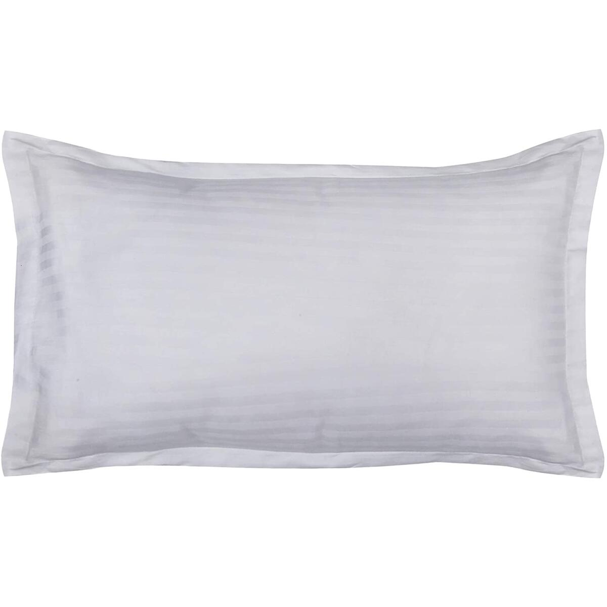DHAROHAR HANDICRAFT Pure Cotton Satin Strip Pillowcase for Hair and Skin- Standard Size (20x30 inches) Pillow Covers-Pack of 1 Pillow Cover