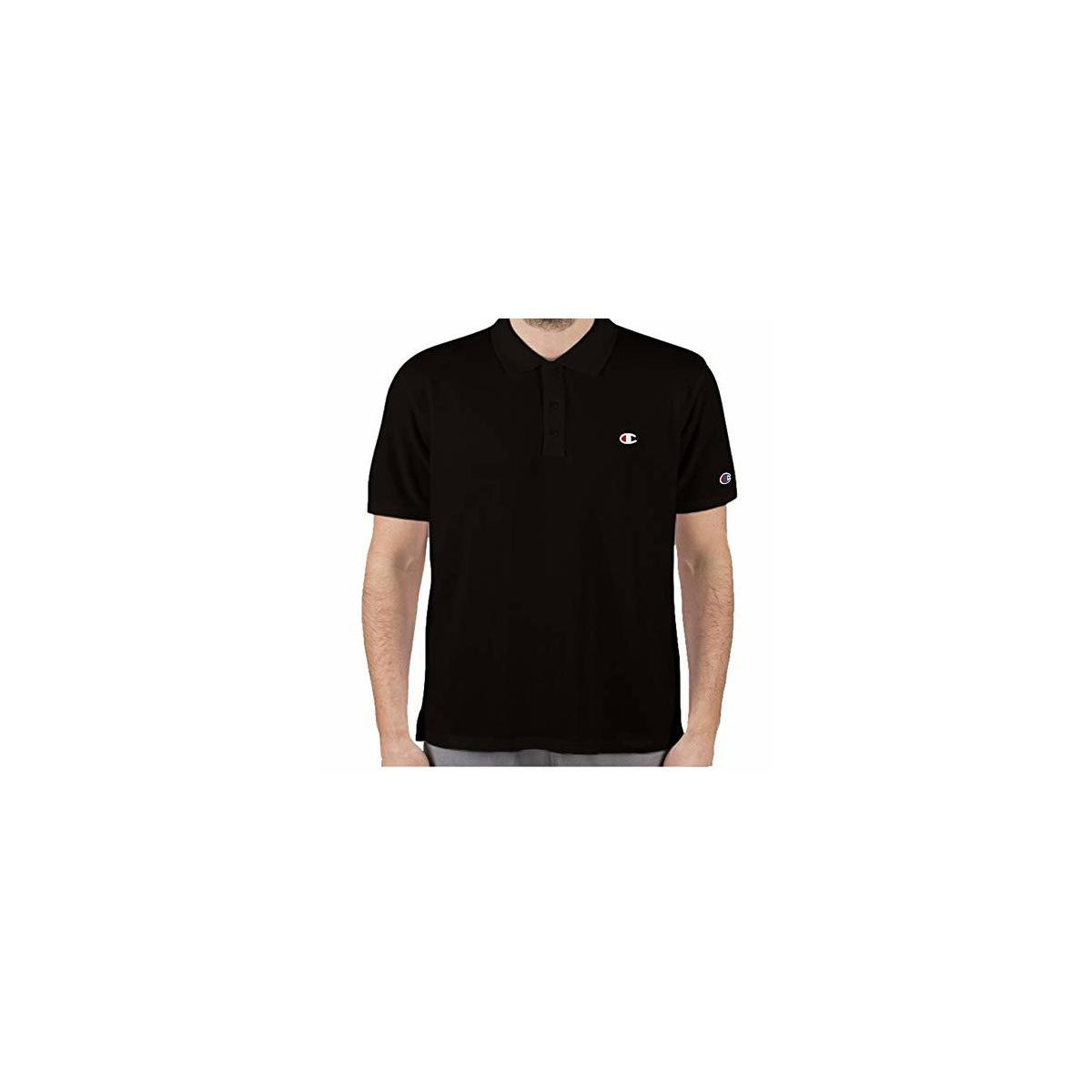 REBATE ONLY FOR: BLACK ,SIZE: 3X----Champion Mens Big and Tall Shirts for Men Short Sleeve Pique Polo Shirt