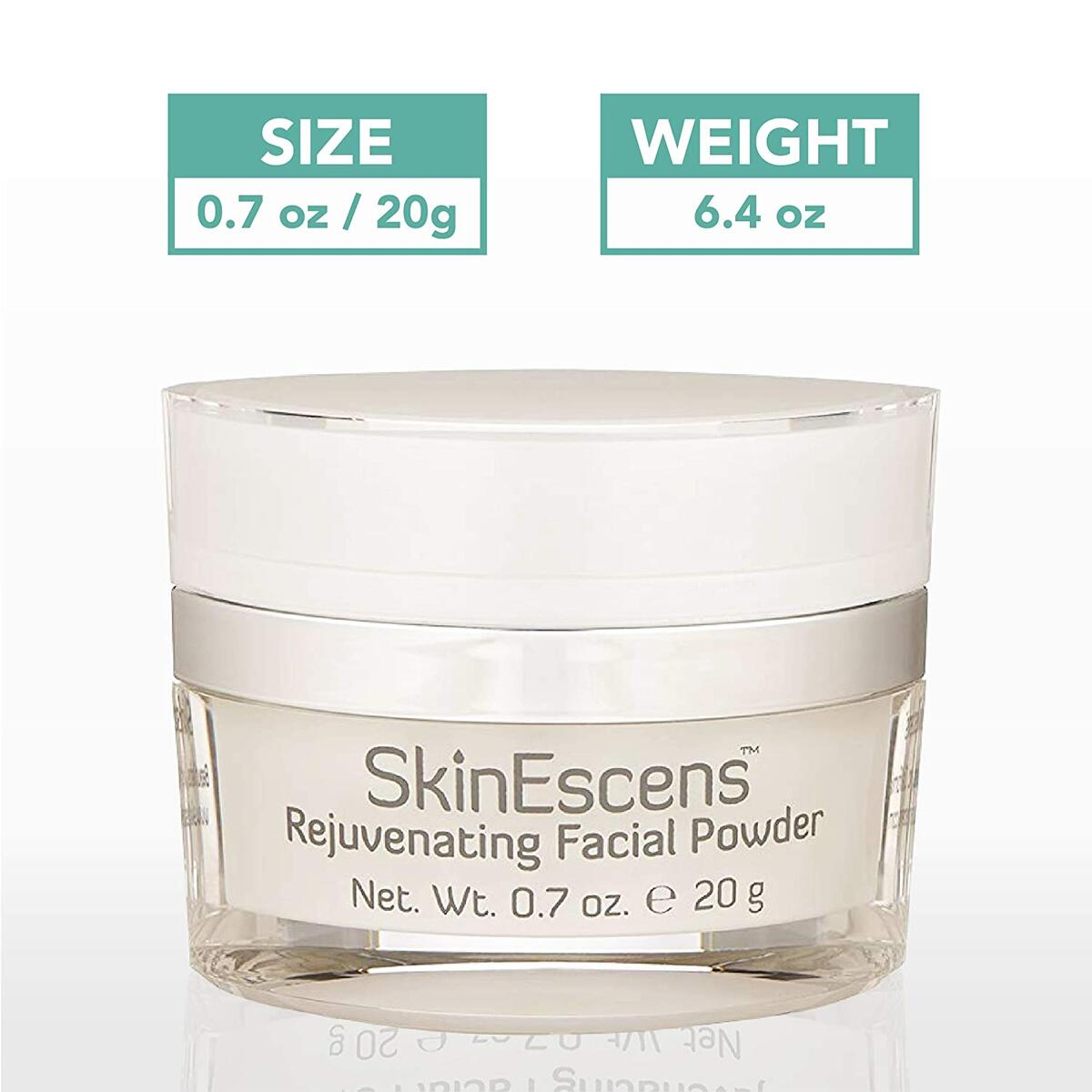 SkinEscens Exfoliating Rejuvenating Facial Powder - Face Exfoliator, Cleanser and Mask - Microdermabrasion Scrub - Anti-Aging - Smooths and Polishes Skin - Evens Skin Tone