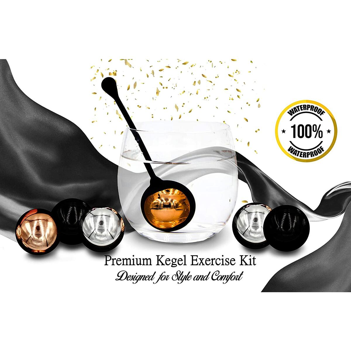 Zen Q Ben Wa Balls for Women Six Premium Kegel Balls for Tightening Doctor Recommended Kegel Exercise Products for Bladder Control Pelvic Floor Weights for Beginners and Pros Benwa Kegal Balls Keigle