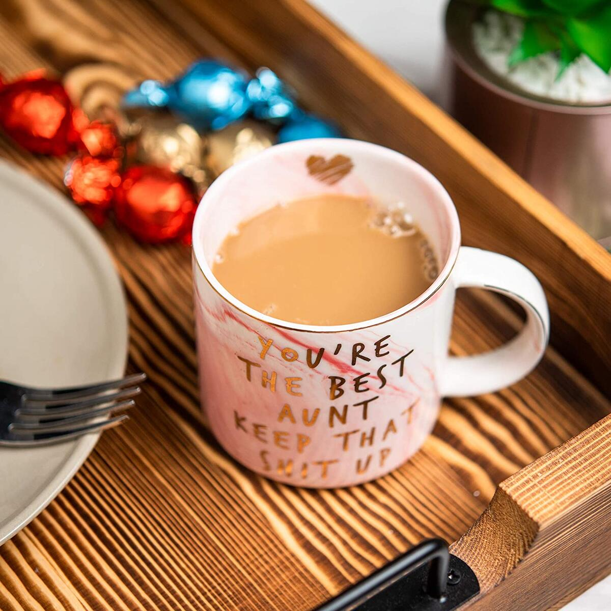 Aunt Gifts from Niece, Nephew - You're The Best Aunt Keep That S Up - Funny Gift for Aunts - BAE Best Aunt Ever Gifts for Birthday - Great Auntie Gifts - Favorite Aunt Mug, Ceramic Coffee Cup