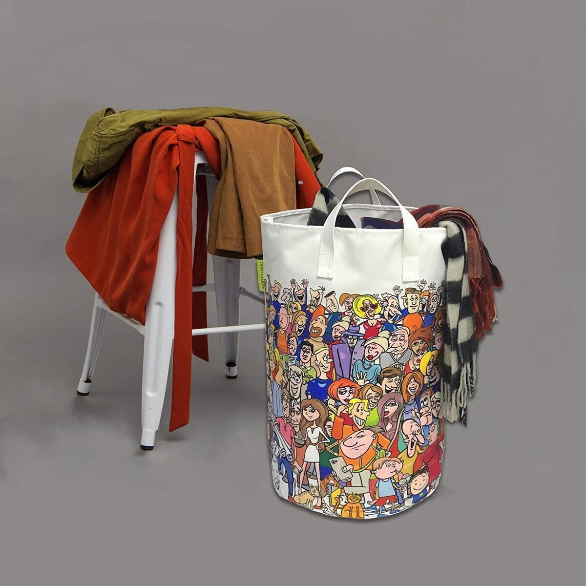 Fun Canvas Laundry Hamper (Foldable)
